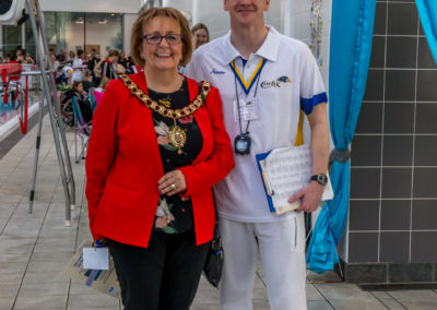Gary Thomas CASC Chairman with Mayor Cllr Julie Riley
