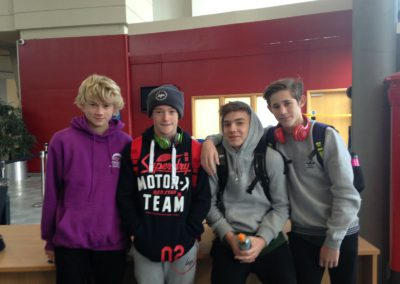 Archie David Louis and Caleb swimming for County Senior Team