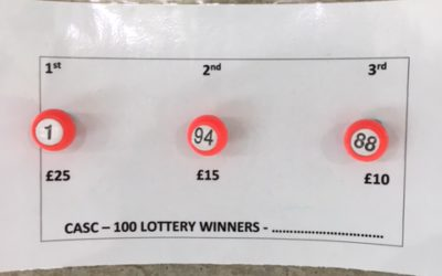 Winning numbers August – CASC 100 Lottery