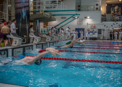 Back stroke starts race for 14yrs olds