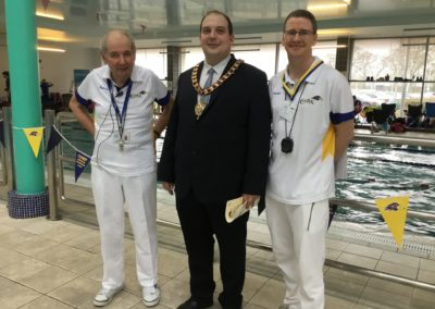 Howard Wilkinson (CASC  President) - Mayor of Corby Matt Keane - Gary Thomas (CASC Chairman)