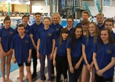 Regional Swimmers - 7 at the Under 14 yrs held at Corby EMIP - Macy, Sam, Sophy, Charlotte, Libby, Keely, Robert. 8 at the over 14yrs held at Sheffield Ponds Forge: Caleb, Louis, David, Archie, Josh, Lucy, Katy, Aimee