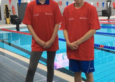 Sophy Kendall and Sam Cooke at the EM Talent Camp in Loughborough